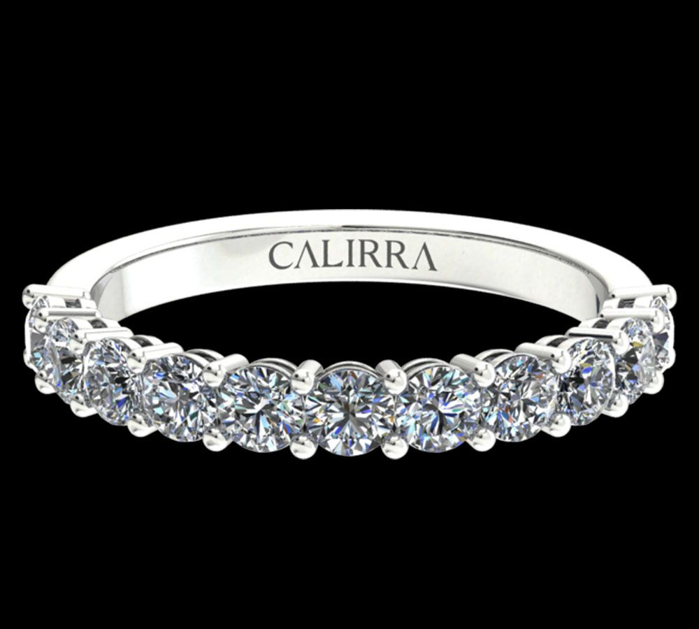 Demi Alliance Diamant Classique Round Cut