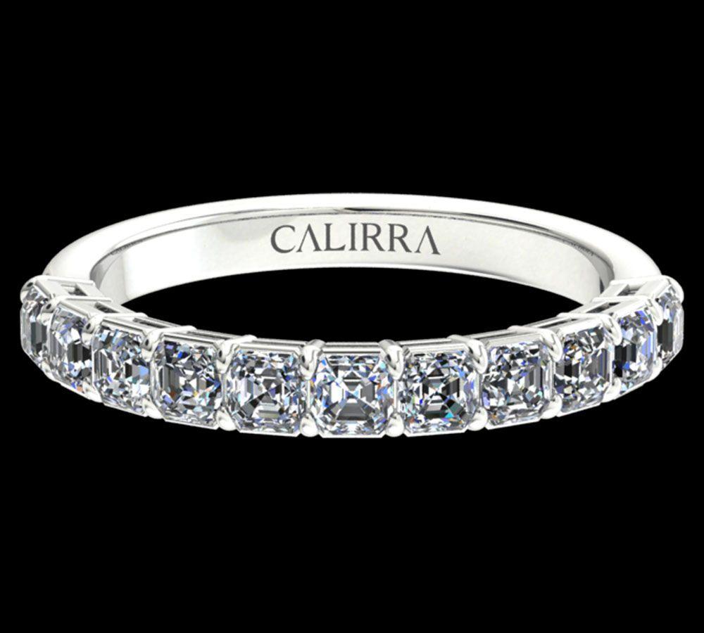 Demi Alliance Diamant Classique Asscher Cut