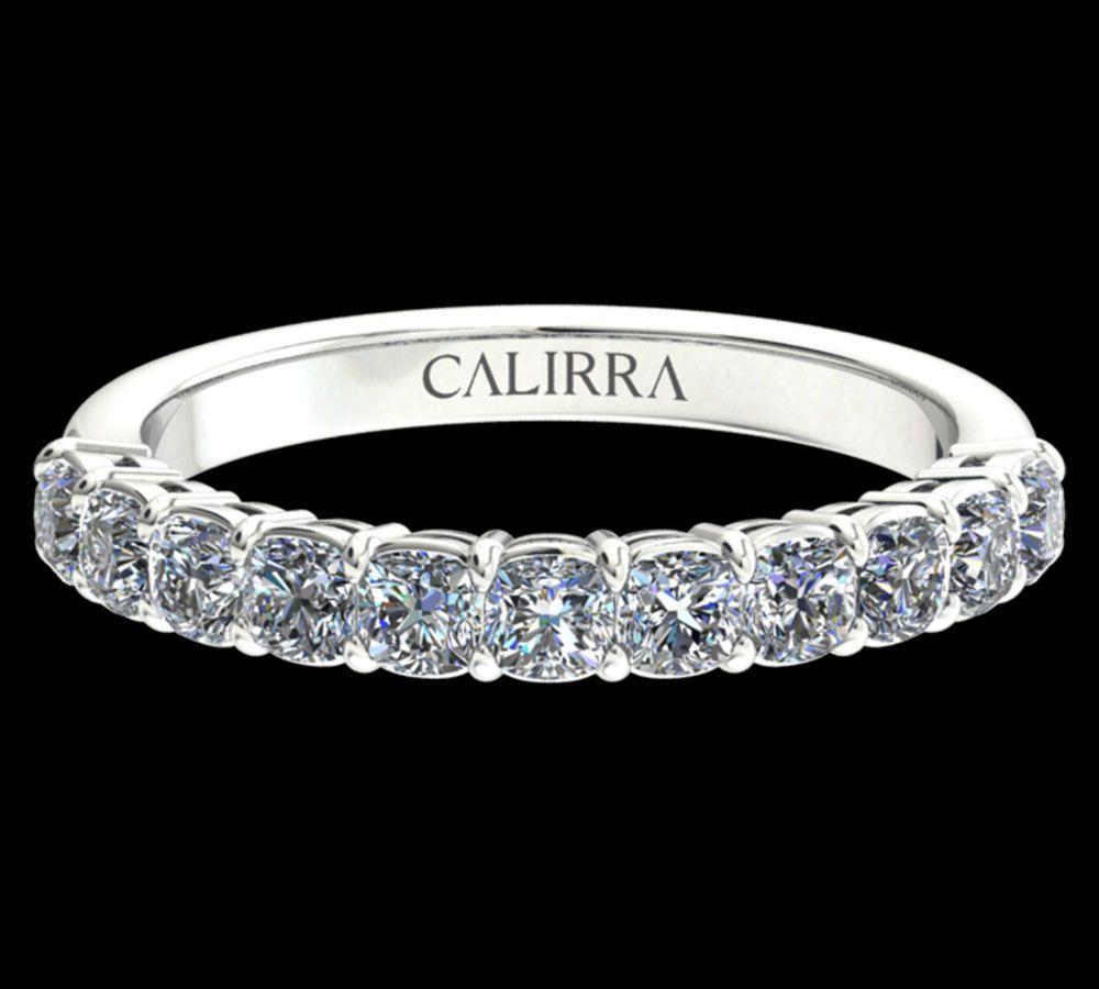 Demi Alliance Diamant Classique Cushion Cut