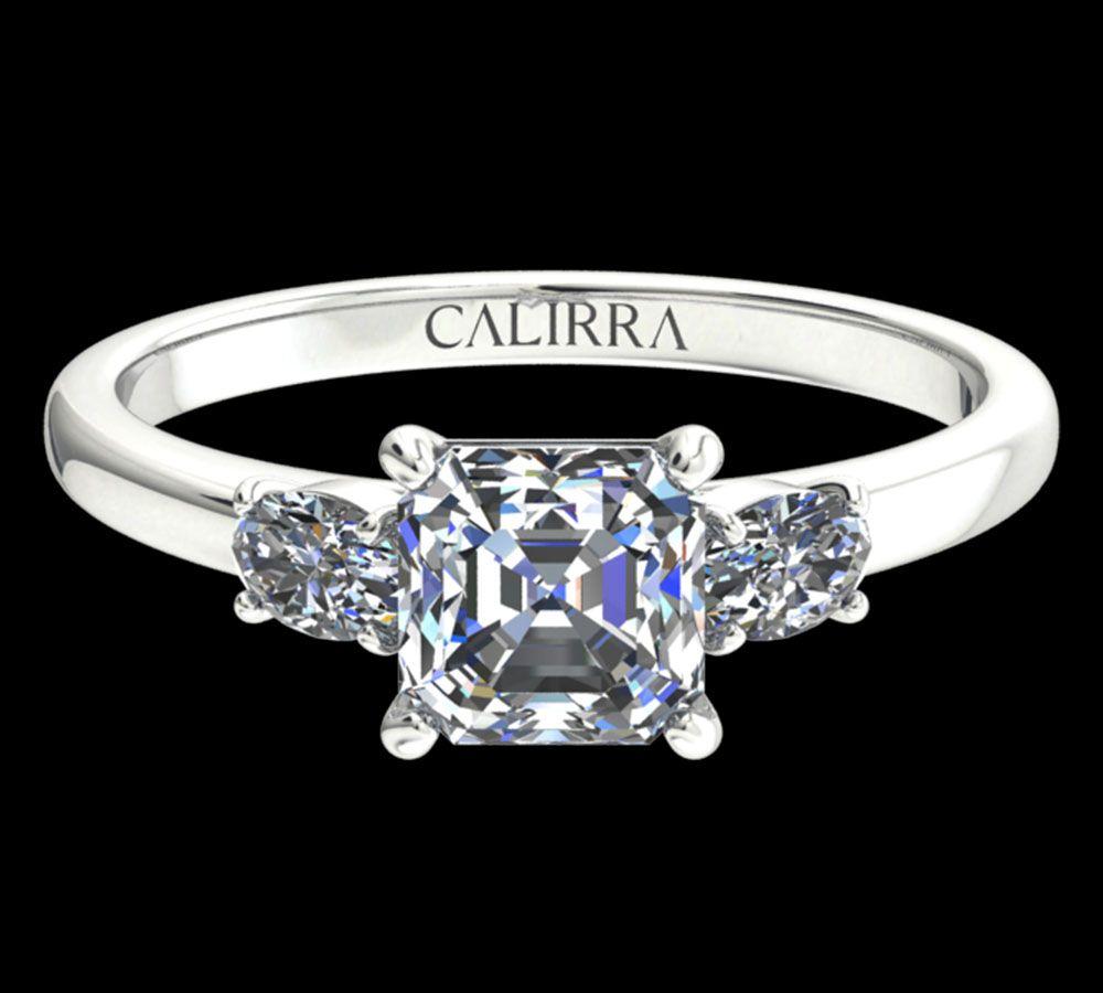 Solitaire Lyne diamant Asscher cut
