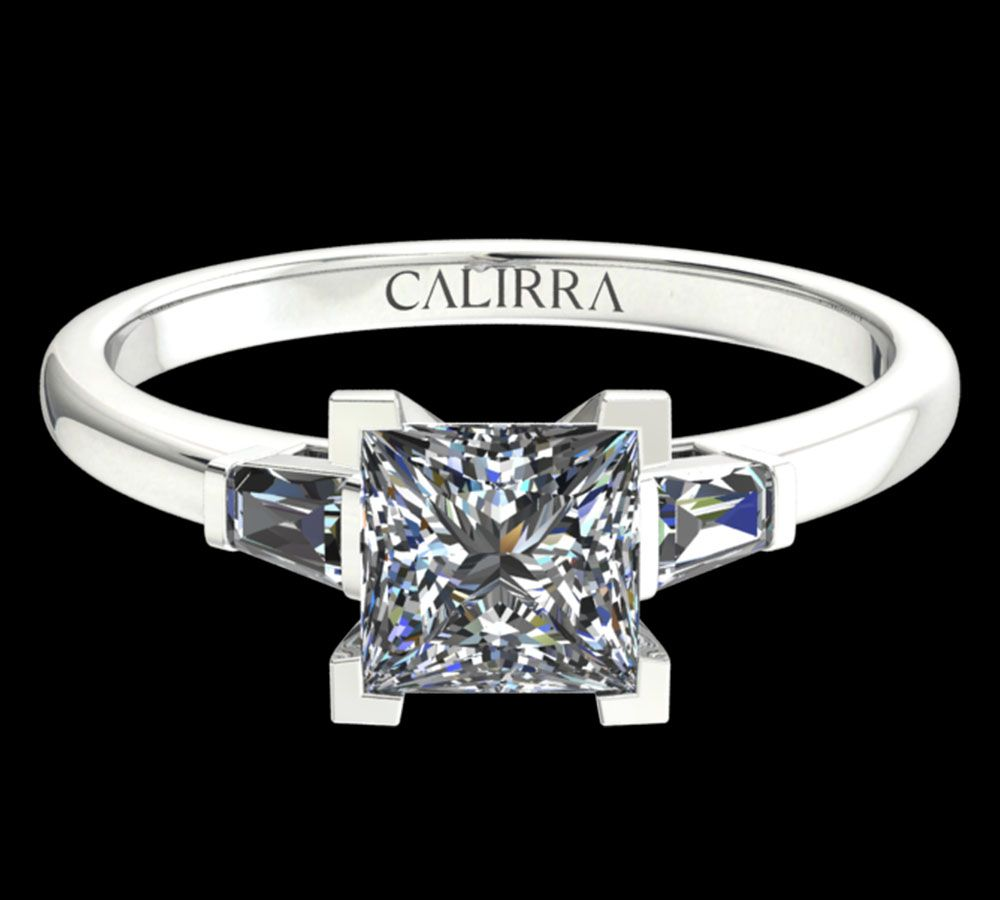 Solitaire Lady diamant Princess cut
