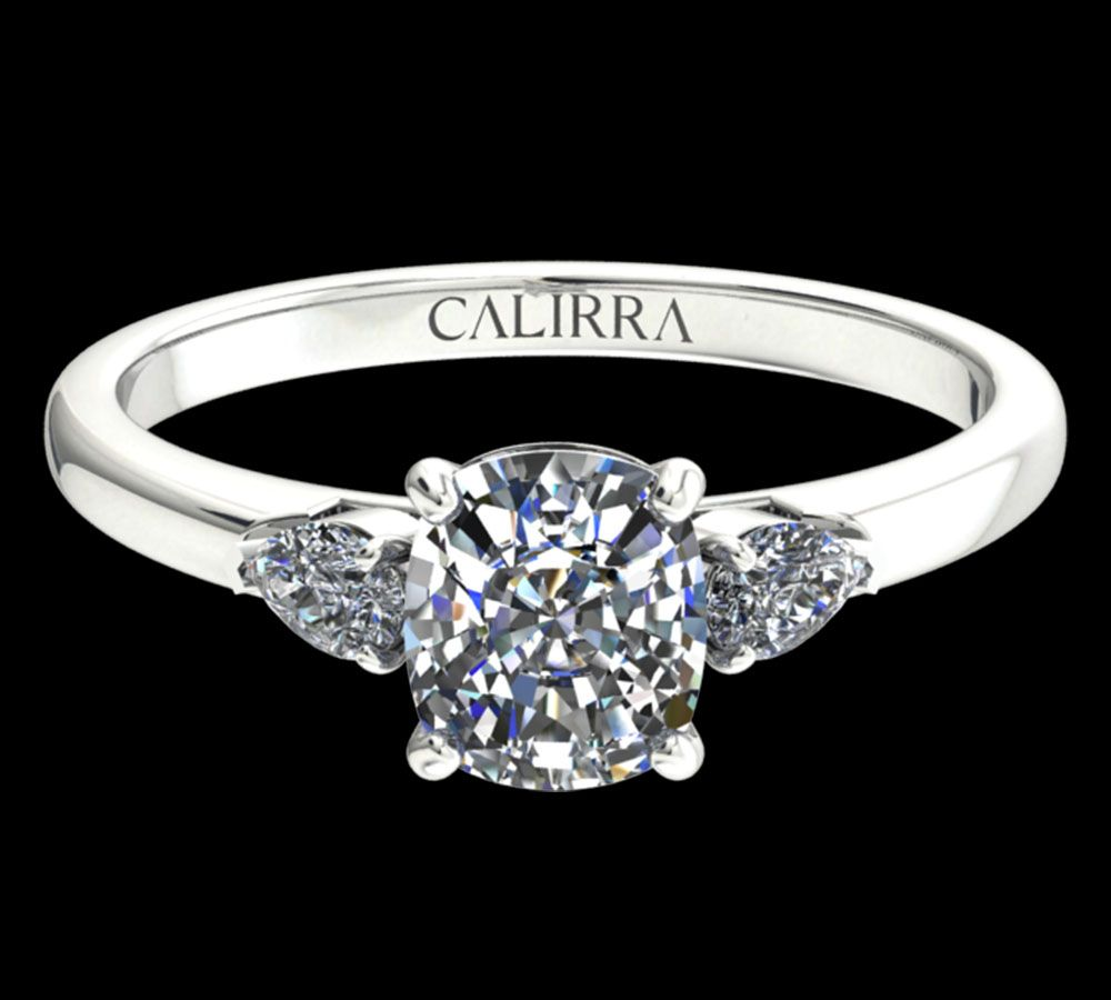 Solitaire Diana diamant cushion cut