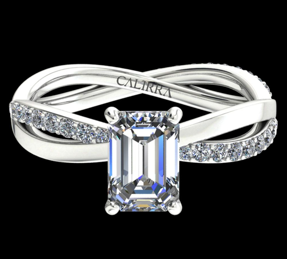 Solitaire Altesse diamant Emerald cut