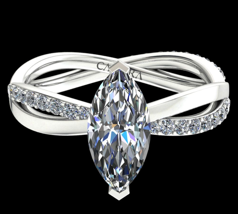 Solitaire Altesse diamant marquise cut