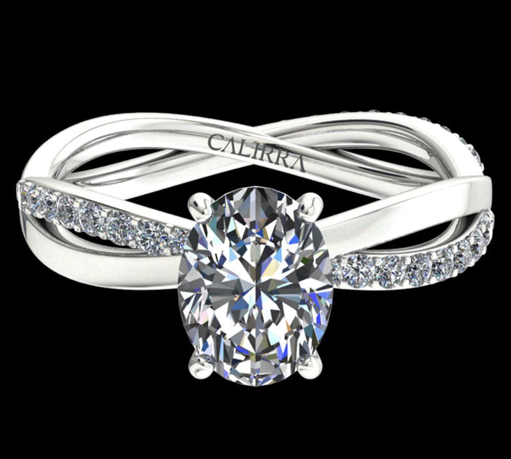 Solitaire altesse diamant oval cut