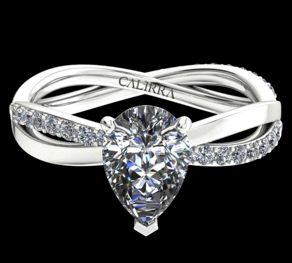 Solitaire Altesse diamant pear cut
