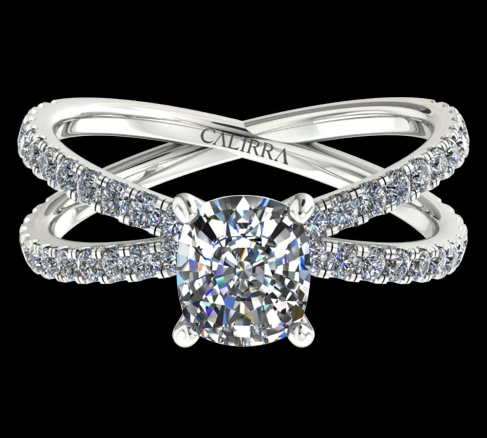 Solitaire Ylana diamant Cushion cut cut
