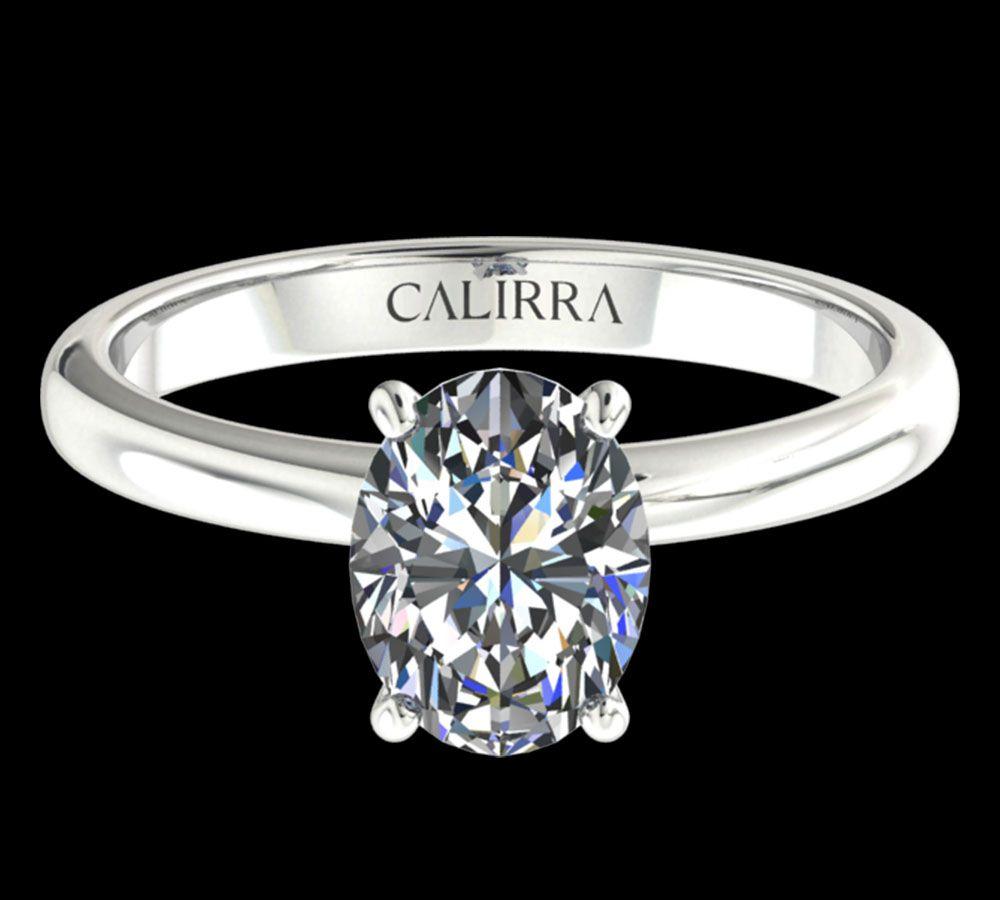 Solitaire simple Leona diamant Oval cut