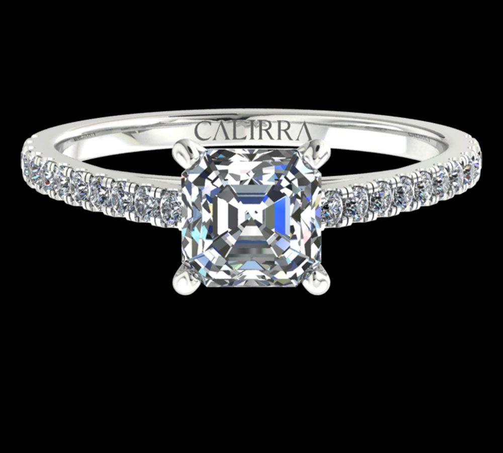 Solitaire Serti Eva diamant Asscher cut