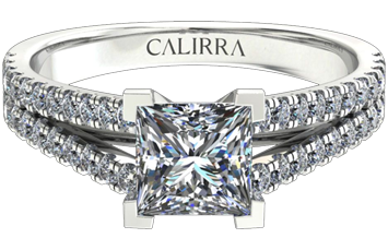 Solitaire victoria diamant princess cut