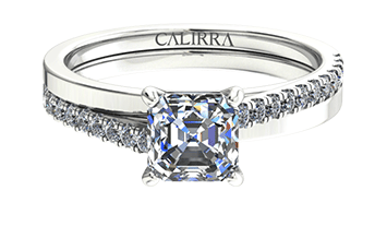 Solitaire Julia diamant Asscher cut