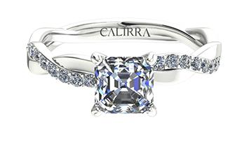 Solitaire infini diamant Asscher cut