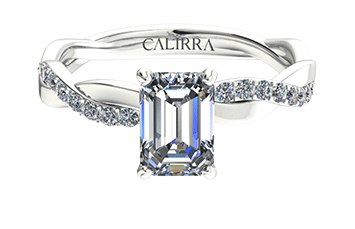 Solitaire infini diamant Emerald cut