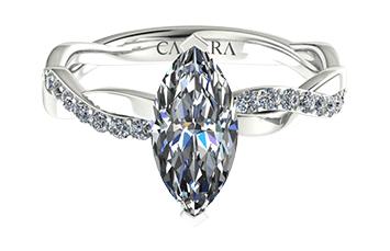 Solitaire infini diamant Marquise cut