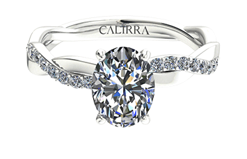 Solitaire infini diamant Oval cut