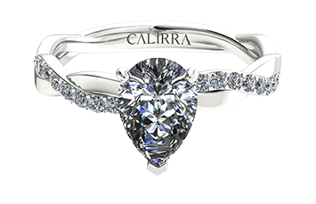 Solitaire infini diamant Pear cut