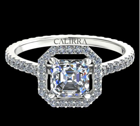 Solitaire Ayline diamant Asscher