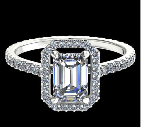 Solitaire Ayline diamant Asscher cut