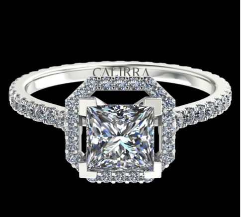 Solitaire Ayline diamant Princess cut