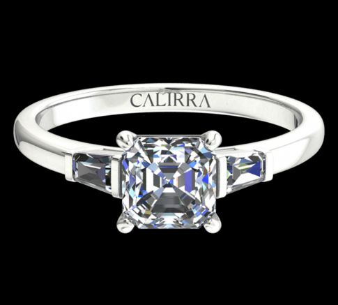 Solitaire Lady diamant Asscher cut