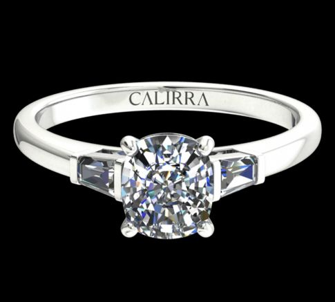 Solitaire Lady diamant Cushion cut