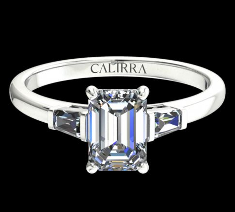 Solitaire Lady diamant Emerald cut