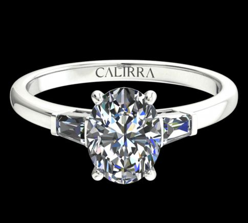 Solitaire Lady diamant Oval cut