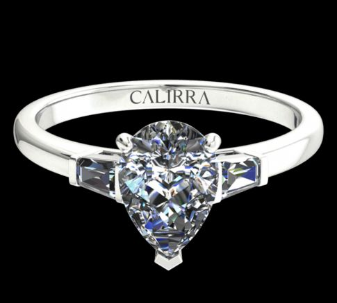 Solitaire Lady diamant Pear cut