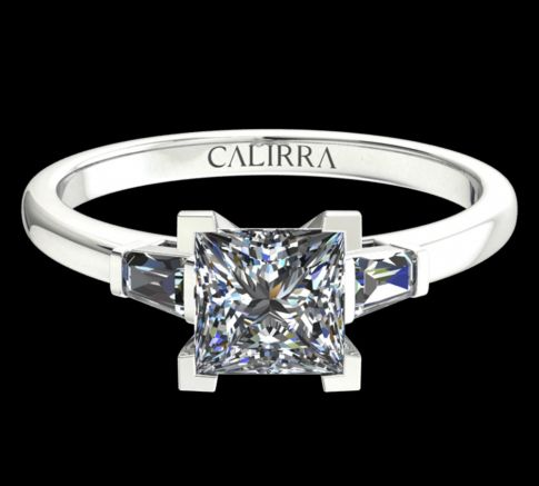 Solitaire Lady diamant Princess cut