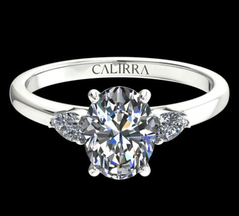 solitaire Diana diamant oval cut