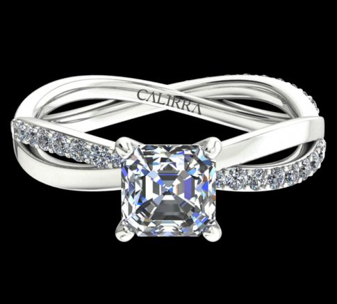 Solitaire Altesse diamant Asscher cut