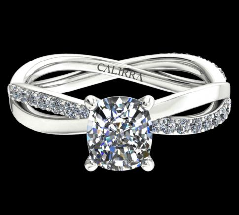 Solitaire Altesse diamant cushion cut