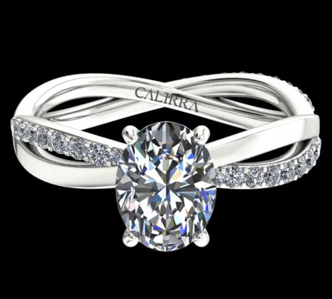 Solitaire altesse diamant oval cut