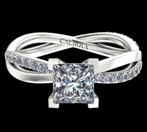 Solitaire altesse diamant princess cut