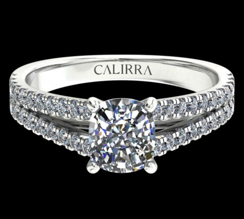 Solitaire victoria diamant cushion cut