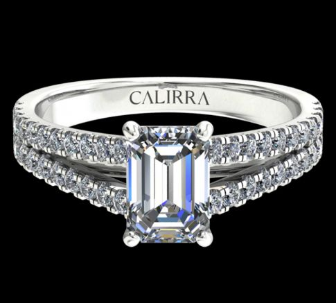 Solitaire victoria diamant emerald cut
