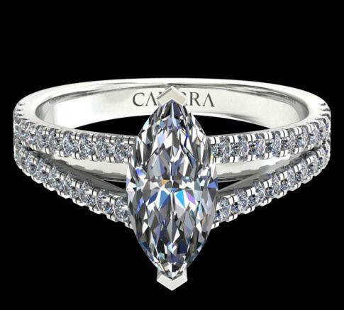 Solitaire victoria diamant marquise cut