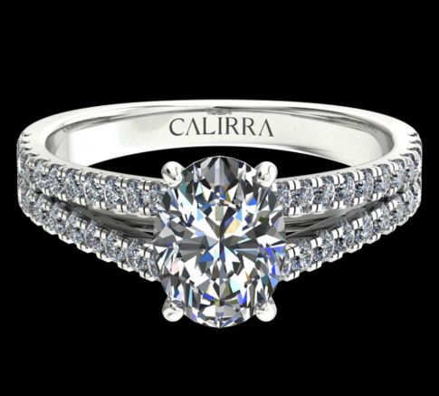 Solitaire victoria diamant oval cut