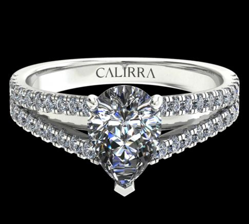 Solitaire victoria diamant pear cut