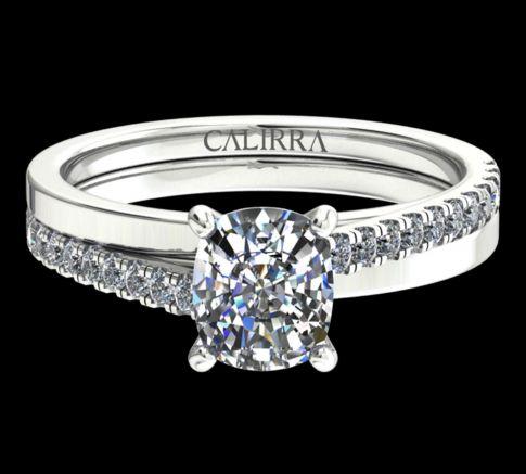 Solitaire Diamant Julia Cushion cut