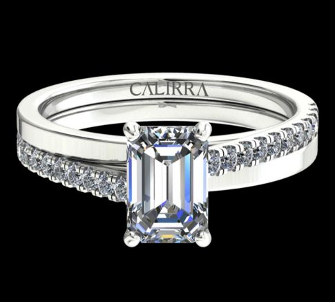 Solitaire Julia Diamant Emerald cut