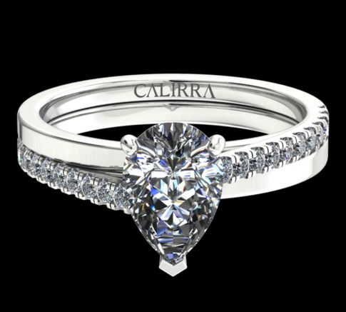 solitaire Julia diamant pear cut