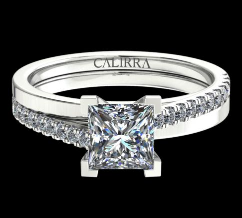 solitaire Julia diamant princess cut