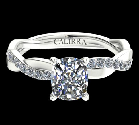 Solitaire infini diamant Cushion cut