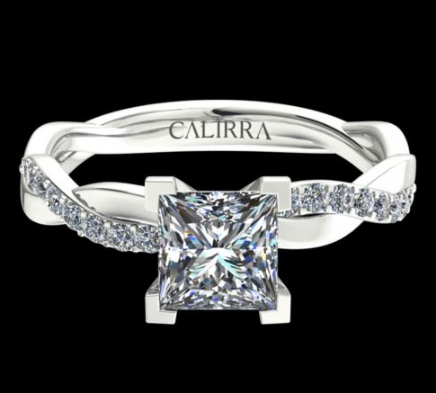 Solitaire infini diamant Princess cut
