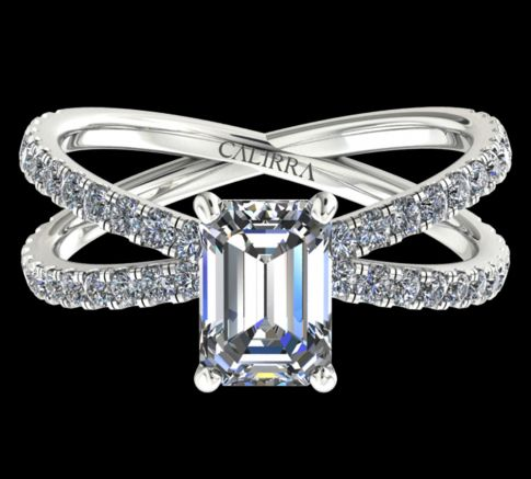 Solitaire Ylana diamant Emerald cut