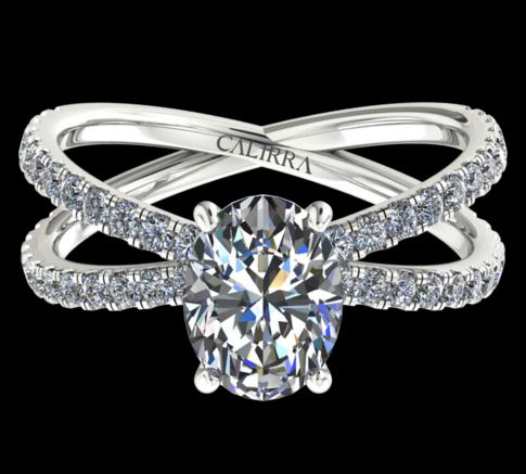 Solitaire Ylana diamant Oval cut