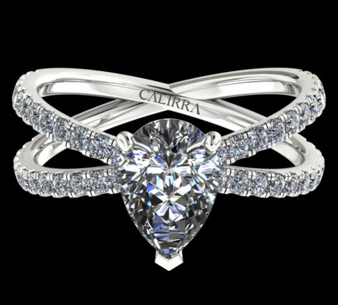 Solitaire Ylana diamant Pear cut