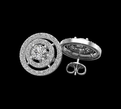 Puces d'oreilles Luna Diamant round cut