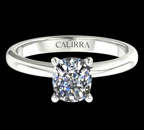 Solitaire Leona Cushion cut diamant